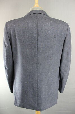 Austin Reed British Tailored Chester Barrie Pure Wool Pinstriped Blue Jacket 43 67 60 Picclick