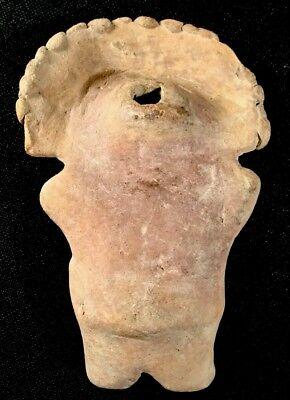 Authentic Pre Columbian Clay Art Figure From Ecuador 7