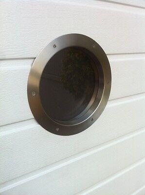 "Türbullauge 35cm Edelstahl Türfenster Bullauge Rundfenster ""Milchglas"""