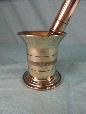 Mörser Antik Messing Bronze Schwer Verziert Zerkleinerer Apotheke Edel Rar o3c6 5