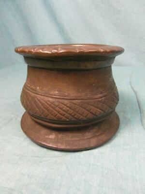 Mörser Antik Mörsergefäß um 1910 Bronze Messing Schwer Zerkleinern Unique o7b5 7