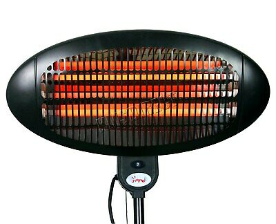 WestWood Standing Patio Heater – Outdoor Garden Electric Heating Quartz - 2KW 7