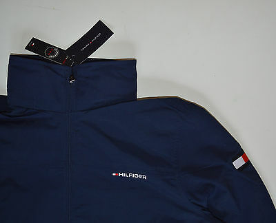 Details about NWT TOMMY HILFIGER men's Yacht Jacket, XL, XLarge, Navy Blue, Hood, Full Zip