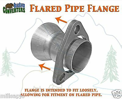 "FX50S 2 1//8/"" 2.125/"" ID Exhaust Flange Formed Triangle Split Repair Replacement"