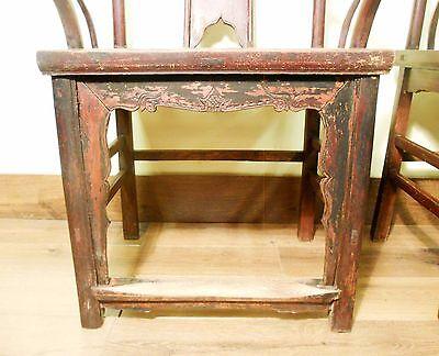Antique Chinese High Back Chairs (Pair) (5742), Circa 1800-1849 5