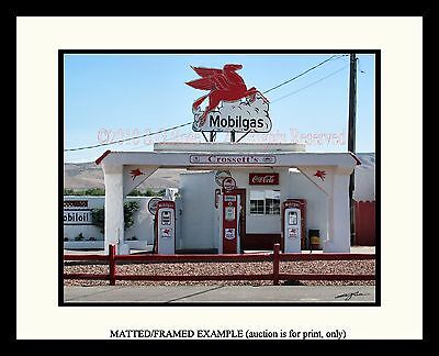 MOBILGAS Vintage Gas Station Pumps Pegasus Coca Cola Coke RETRO Auto Photograph