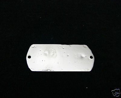 Ice Box Label White Clad Brass Nickel Plated 5