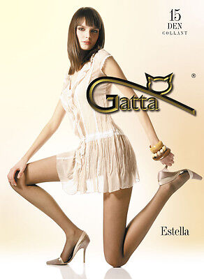 "Gatta ""ESTELLA"" 15 Denier T-Band, Classic Tights ,Semi-Mat 8"