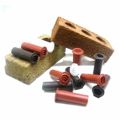 25 x Buff Drill Weep Vents Round Vent system Cavity Retaining Walls Wall 6