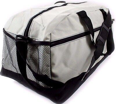 Unisex Large Travel Holdall Bag SPORTS DUFFEL FITNESS TRAVEL GYM Grey School