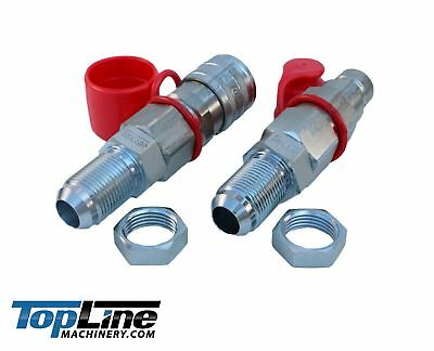 Thread Flat Face Quick Connect Hydraulic Coupler 1//2 Body Size Bobcat Skid Steer Coupling with Dust Caps TopLine TL92 1//2 SAE ORB