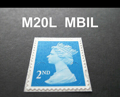 NEW MAY 2020 2nd Class M20L + MBIL MACHIN SINGLE STAMP from Business Sheets 3