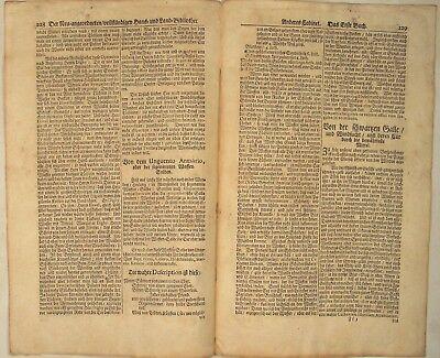WAFFENSALBE Arzt + Apotheker MEDIZIN Orig Doppelblatt 1690 Heilkunde Rezept 2