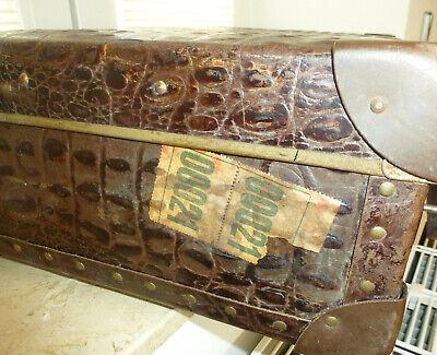Real Volcano Fibre Suitcase um 1910 Vulcanised Fibre Travel Cases 10