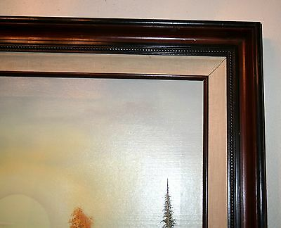 1985 BILL BOSWELL Painting Oil on Canvas Framed Canvas Matting 30.5 ...