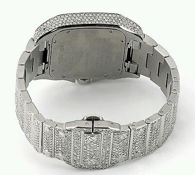 52c53c0d6b3 ... Cartier Santos 100XL Watch Fully Iced Out 26 Carat Diamonds Best Price  ASAAR 3