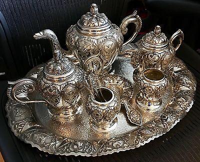 """S/Silver""""925""""Seven Piece Tea & Coffee Service + 1kiloBar.9999PureSilverPerthMint 4"""
