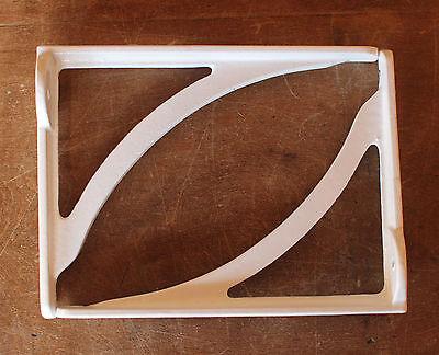 "Pair White 7"" ANTIQUE HEAVY CAST IRON VICTORIAN SHELF CISTERN BRACKETS BR08wx2"