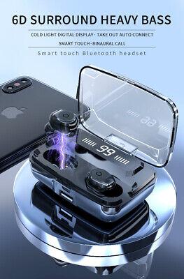Bluetooth 5.0 Headset TWS Wireless Earphones Mini Stereo Headphones LED Earbuds 4