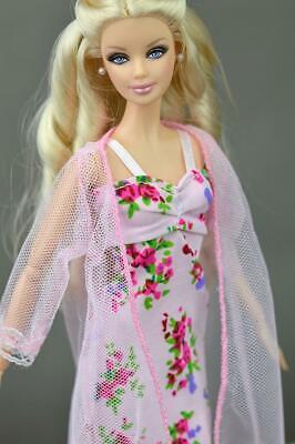 2pcs/set Fashion Clothes For Barbie Doll Dress Pajamas Lace Lingerie Sleepwear 7