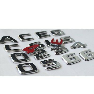 Chrome S63 AMG Rear Trunk Letter Badge Emblem For Mercedes Benz S-Class S63 AMG