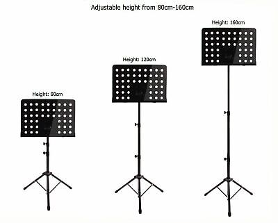 Heavy Duty Metal Foldable Music Stand Holder Tripod Orchestral Conductor Sheet 9
