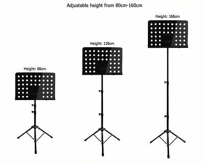 Heavy Duty Orchestral Conductor Sheet Music Stand Holder Tripod Base Foldable UK 9