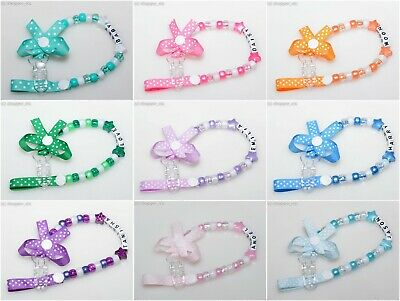 Personalised Dummy Clip With Animal Bead Charm by Polka Dot Ribbon