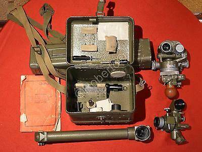 * Military antiqueTheodolit theodolite +periscope+tripod +accesories Surveying * 2
