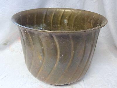Antique Decorative Large Brass Planter Bin Coal Log Scuttle Bucket
