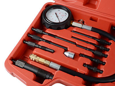 New 17 pc Diesel Engine Compression Tester Kit Tool Set Automotive Compressor 4