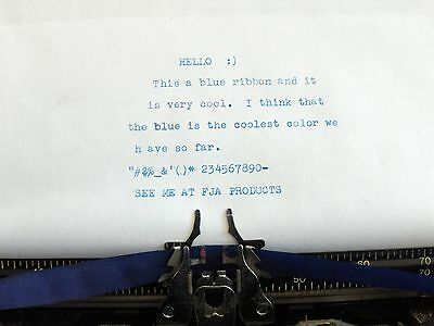 Free Shipping Sears 4000 Blue Ink Typewriter Ribbon