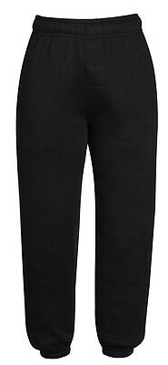 Boys Girls Joggers Jogging Pants Fleece Tracksuit Bottoms PE School Kids Sizes 2