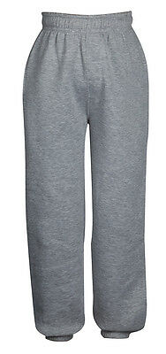 Boys Girls Joggers Jogging Pants Fleece Tracksuit Bottoms PE School Kids Sizes 3