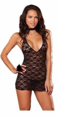 Sexy Spitzenkleid Raffinesse - mit raffinierter Rückseite - Neglige Nachthemd