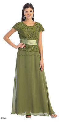 MOTHER OF THE Bride Groom Dress Plus Size Formal Gown