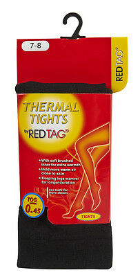 REDTAG Girls Black Thermal Tights 0.45 Tog 2
