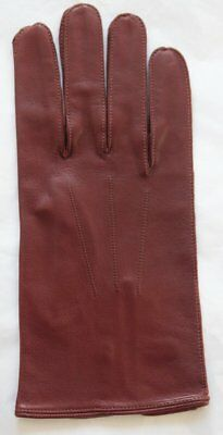 Pair Vintage English Make Leather Gloves w/ Button Fastening Approx 9.5 7