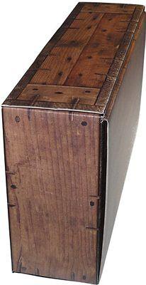 """Weinkoffer Weinkarton Box T Schachtel in dunkler Holzoptik /""""rustikal/"""" WK 2er"""