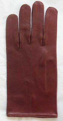 Pair Vintage English Make Leather Gloves w/ Button Fastening Approx 9.5 6