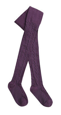 I.L.C.K Cable Childrens Girls Design Tights Knitted Plain Stretchy Cotton Rich 4