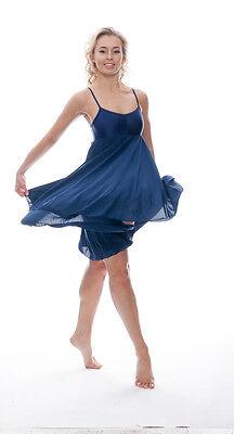 Donne Ragazze Blu Navy Lirico Abito Contemporaneo Balletto Danza Costume Da Katz 3