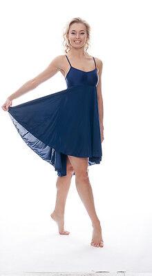 Donne Ragazze Blu Navy Lirico Abito Contemporaneo Balletto Danza Costume Da Katz 6