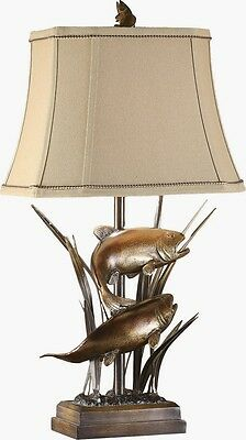 Upstream fish table lamp rustic cabin lake lodge trout angler fly 1 of 4free shipping upstream fish table lamp rustic cabin lake lodge trout angler fly fishing aloadofball Image collections