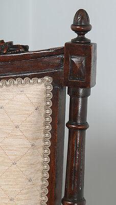 Antique French Louis XVI Style Walnut Salon Occasional Armchair (Circa 1880) 4