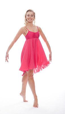 Donne Ragazze Fucsia Peonia Lirico Abito Contemporaneo Balletto Danza Costume 5