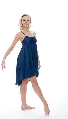 Donne Ragazze Blu Navy Lirico Abito Contemporaneo Balletto Danza Costume Da Katz 2