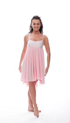 Donne Ragazze Rosa Pallido Lirico Abito Contemporaneo Balletto Danza Costume 4