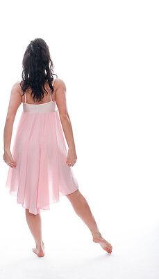 Donne Ragazze Rosa Pallido Lirico Abito Contemporaneo Balletto Danza Costume 5
