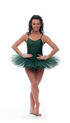 Verde Bosco Luccicanti Paillettes Danza Tutina Da Balletto Tutu Bambini Donna